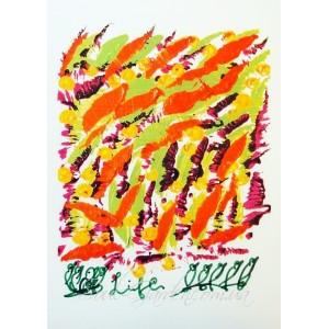 """Репродукция картины  """"Life"""" (Жизнь), автор Шри Чинмой, А5"""