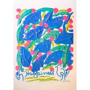"""Репродукция картины  """"Happiness"""" (Счастье), автор Шри Чинмой, А5"""