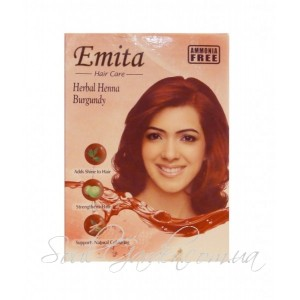 Хна индийская натуральная для волос Emita, Burgundy  6 пак. в упак.