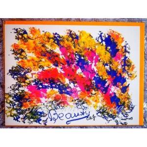 Открытка в конверте в стиле Джарна-Кала -Beauty / Красота,автор Шри Чинмой (Индия), А5