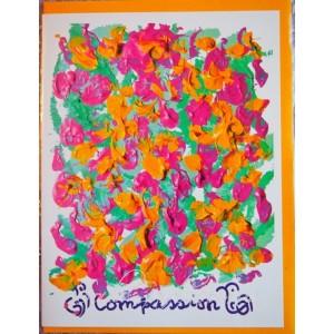 Открытка в конверте в стиле Джарна-Кала - Compassion / Сострадание,автор Шри Чинмой (Индия),А5