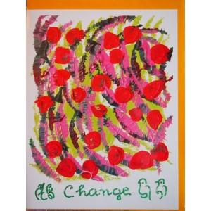 Открытка в конверте в стиле Джарна-Кала - Change / Перемены,автор Шри Чинмой (Индия),А5