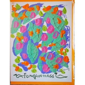 Открытка в конверте в стиле Джарна-Кала Forgiveness / Прощение,автор Шри Чинмой (Индия),А5