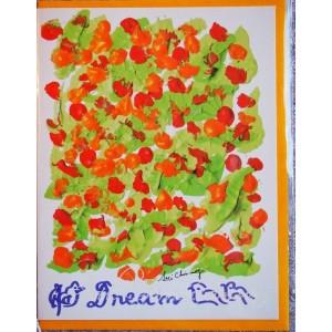Открытка в конверте в стиле Джарна-Кала - Dream / Мечта,автор Шри Чинмой (Индия),А5