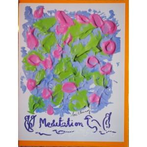 Открытка в конверте в стиле Джарна-Кала Meditation / Медитация,автор Шри Чинмой (Индия),А5