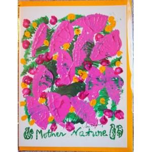 Открытка в конверте в стиле Джарна-Кала -Mother Nature / Мать Природа,автор Шри Чинмой (Индия),А5