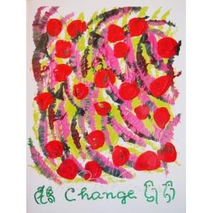 Репродукция картины в стиле Джарна-Кала - Change / Перемены,автор Шри Чинмой (Индия),А4
