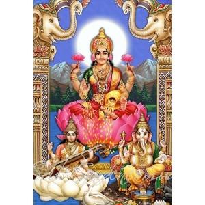 Магнит с изображением богини Лакшми (6х9)