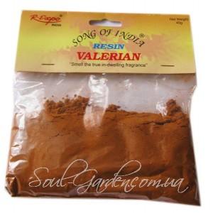 Смола ароматическая  Valerian, Валерьяна (Songs of India),40 гр