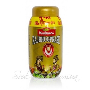 Чаванпраш Раджбхогпрадж /  RAJBHOG PRASH - чаванпраш c золотом, шафраном и кораллами (Multani) 500 г