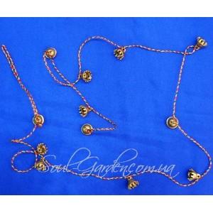 Колокольчики бронзовые на ниточке/ Bell Kali (Индия),125 см