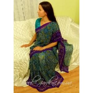 "Сари ""Ganesh-OM""/ Sari (Индия)"