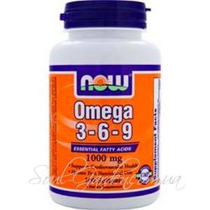 Omega  3-6-9  1000мг  (Now Food's, USA),100капс.