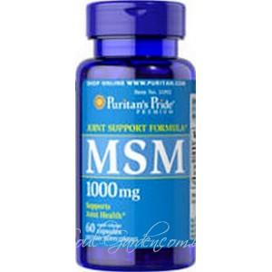 МСМ (MSM) капсулы-органическая сера, 1000 мг (Puritan's Pride, USA) 60капс.