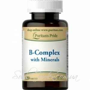 B- комплекс С МИНЕРАЛАМИ  / B - Complex with Minerals (Puritan's Pride, USA) 120 капс.