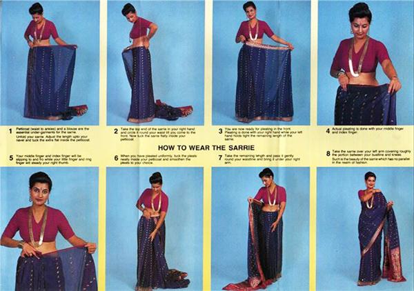 как правильно одевать сари